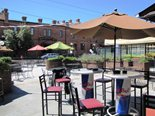 Devine's patio is a perfect place to enjoy a delicious meal or a cold beverage.